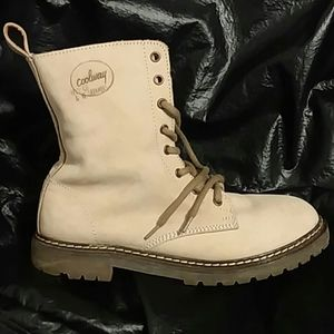 Coolway leather boots tan 40 shoe rubber sole soft